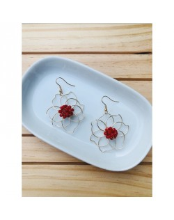 Aretes Flor Red