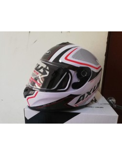 Casco AXUS Snow blanco  Doble certificacion