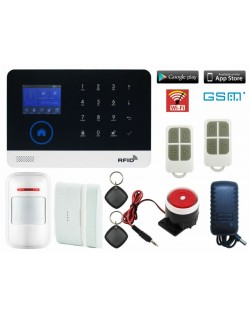 Kit de alarma inalambrico anti ladrones WIFI