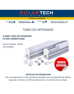 TL30001 TUBO LED INTEGRADO T8 18W 1200MM 6500