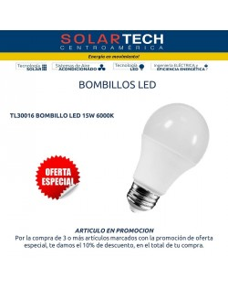 TL30016 BOMBILLO LED 15W 6500K E27