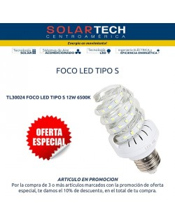 TL30024 FOCO LED TIPO S AN-CLS-12W 6500K E27